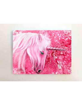 "Humble Unicorn - 9""x12"" Canvas Print"