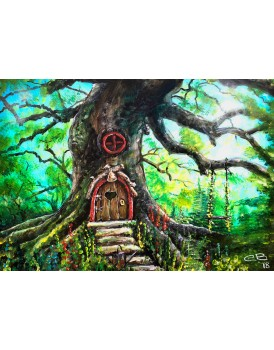 "Fairy door - 9""x12"" Canvas Print"