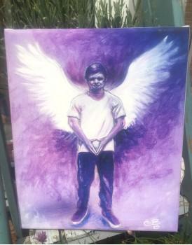 Archangel Michael -  A4 Canvas Print