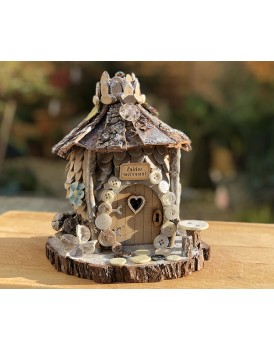 Winter - Button fairy Cottage - from the Natural Fairy Range