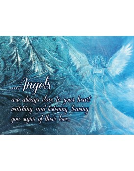 A4 blue ...Angels  are always close - Canvas Print