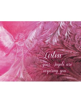 A4 pink Angel Canvas Print