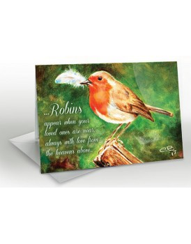 Robins are near - A5 Greetings card