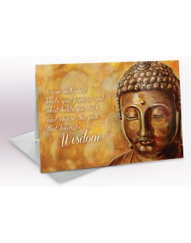 Wise Buddha - A5 Greetings card