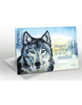 Spirit Wolf - A5 Greetings card