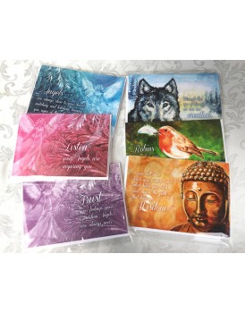A set of 6 spiritual greetings cards