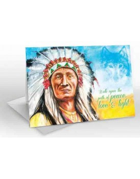 Ancient Spirit, Indian Chief - A5 Greetings card