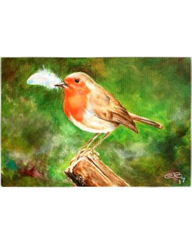 Robin and angel feather Limited Edition Print