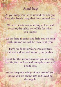 Card Angel hugs